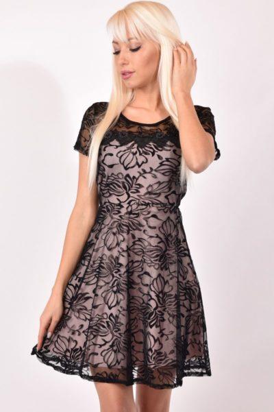 Női alkalmi ruha elasztikus csipkéből 9cf56ce5a1