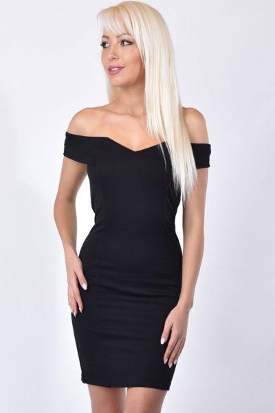 Fekete elasztikus anyagból készült női ruha 73c4035c95