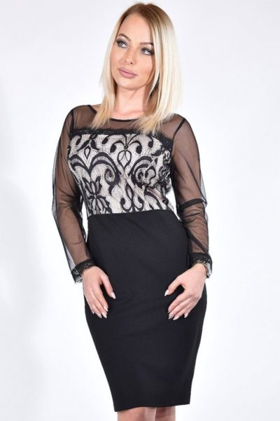 7f75640905 ALICE fekete alkalmi ruha