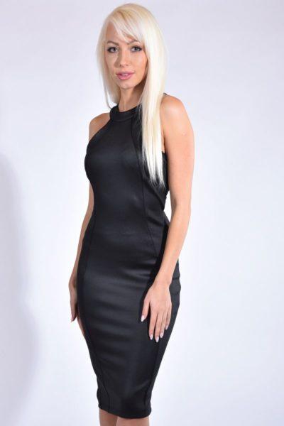 Nagyon elasztikus fekete női alkalmi ruha 1094d820f1