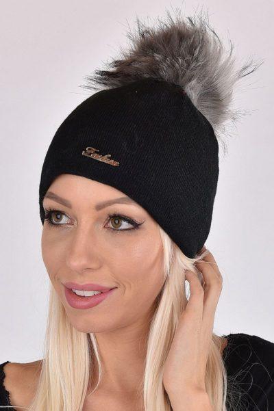 FASHION fekete-szürke színű női sapka d5ff3c5abc
