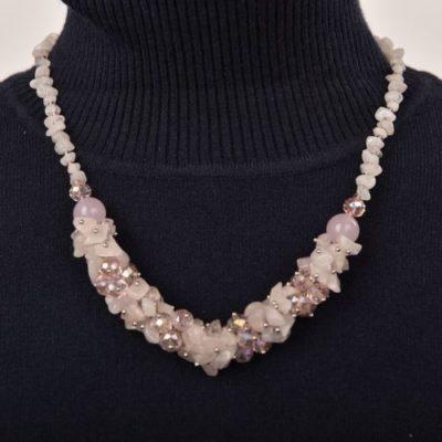 451df9835b BETTY halvány rózsaszín színű női nyaklánc