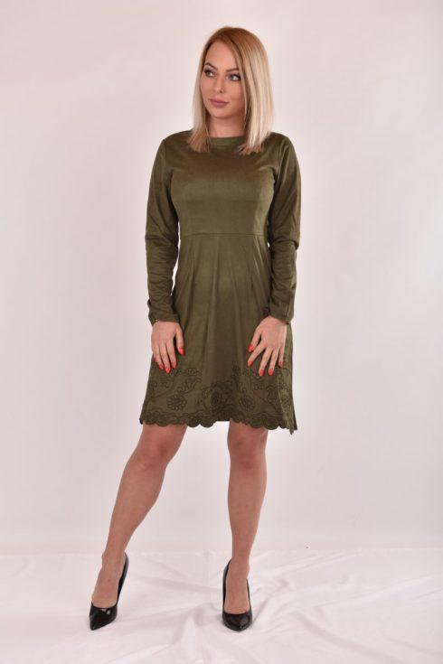 89b2966e5e LALIA velúr hatású ruha - TheCollection
